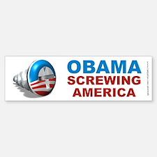 Obama Screwing America, Bumper Bumper Sticker