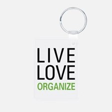 Live Love Organize Keychains