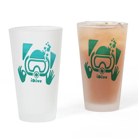 IDive OK Aquamarine 2012 Drinking Glass