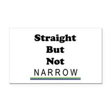 Straight Not Narrow Rectangle Car Magnet