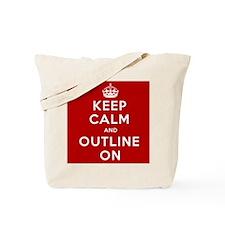 Keep Calm And Outline On Tote Bag
