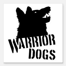 "Warrior Dogs Square Car Magnet 3"" x 3"""
