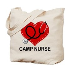 Camp Nurse Heart Tote Bag