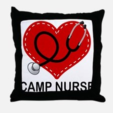 Camp Nurse Heart Throw Pillow