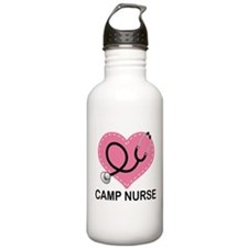 Camp Nurse Heart Sports Water Bottle