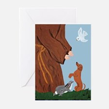 Dachshund And St. Francis Greeting Cards (Pk of 20