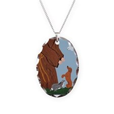 Dachshund And St. Francis Necklace