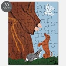 Dachshund And St. Francis Puzzle