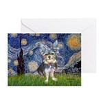 Starry-AussieTerrier2 Greeting Cards (Pk of 20)