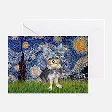 Starry-AussieTerrier2 Greeting Card