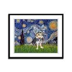 Starry-AussieTerrier2 Framed Panel Print