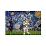 Starry-AussieTerrier2 Rectangle Magnet (100 pack)