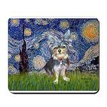 Starry-AussieTerrier2 Mousepad