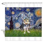 Starry-AussieTerrier2 Shower Curtain