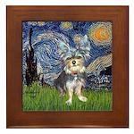 Starry-AussieTerrier2 Framed Tile