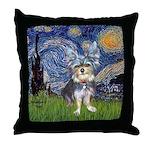 Starry-AussieTerrier2 Throw Pillow