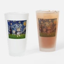 Starry-AussieTerrier2 Drinking Glass