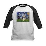 Starry-AussieTerrier2 Kids Baseball Jersey