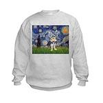 Starry-AussieTerrier2 Kids Sweatshirt