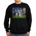 Starry-AussieTerrier2 Sweatshirt (dark)