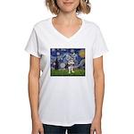 Starry-AussieTerrier2 Women's V-Neck T-Shirt
