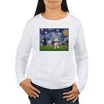 Starry-AussieTerrier2 Women's Long Sleeve T-Shirt