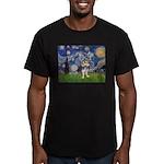 Starry-AussieTerrier2 Men's Fitted T-Shirt (dark)