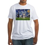 Starry-AussieTerrier2 Fitted T-Shirt