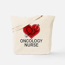 Oncology Nurse Heart Tote Bag