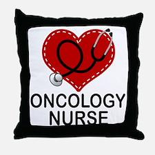 Oncology Nurse Heart Throw Pillow