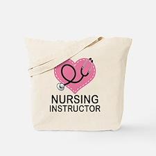 Nursing Instructor Heart Tote Bag