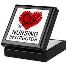 Nursing Instructor Heart Keepsake Box