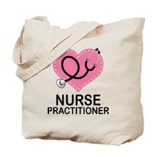 Nurse Practitioner Heart Tote Bag