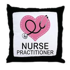 Nurse Practitioner Heart Throw Pillow
