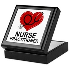 Nurse Practitioner Heart Keepsake Box