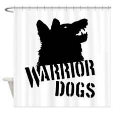 Warrior Dogs Shower Curtain
