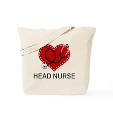 Head Nurse Heart Tote Bag