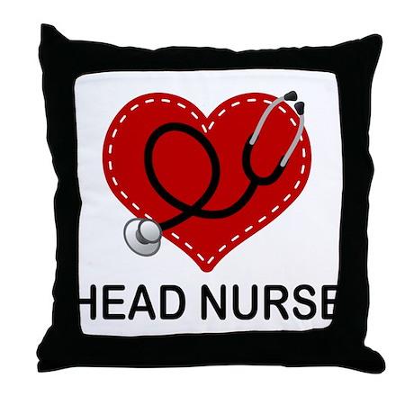 Head Nurse Heart Throw Pillow