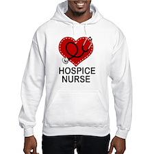 Hospice Nurse Heart Hoodie