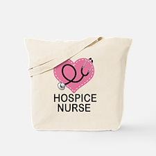 Hospice Nurse Heart Tote Bag