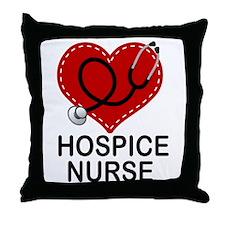 Hospice Nurse Heart Throw Pillow