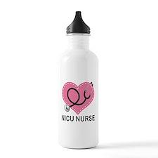 NICU Nurse Heart Water Bottle