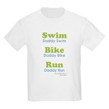 triathlonDaddy---bluegreen-lg-.58ar T-Shirt