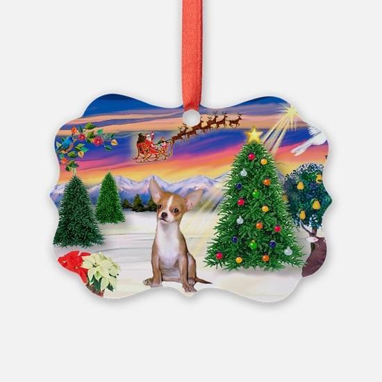 Santa's Take Off/Chihuahua Ornament Pk of