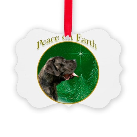 Peace on Earth brindle Picture Ornament