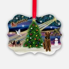 Xmas Magic Airedale (#1) Ornament