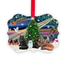 Xmas Magic/5 Persian Cats Ornament0