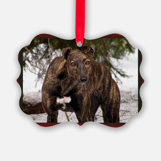 Red Brindle Christmas Ornament