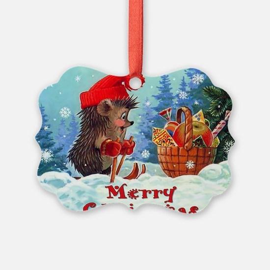 Ski Christmas Ornament