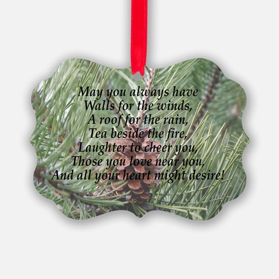 Irish Christmas Blessing Ornament